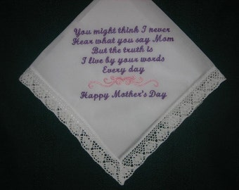 Mother Day Handkerchief 187S with FREE Gift Box and FREE shipping in the US.