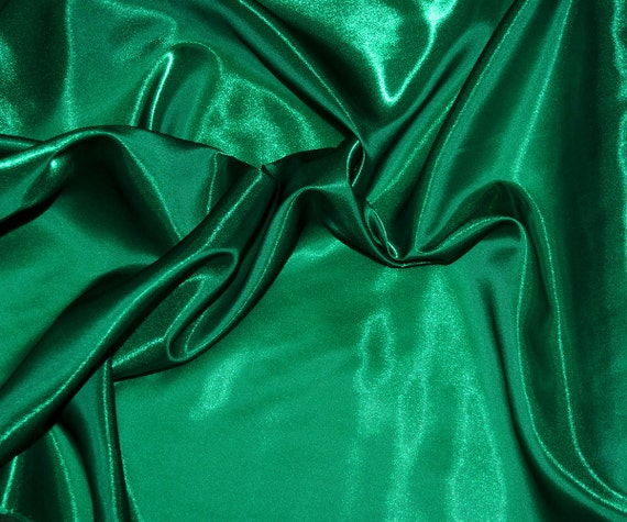 Sparkle satin emerald green semi sheer 45 wide fabric for Emerald satin paint