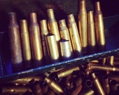 Dozen empty bullet casings