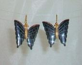 Hematite Butterfly Earrings
