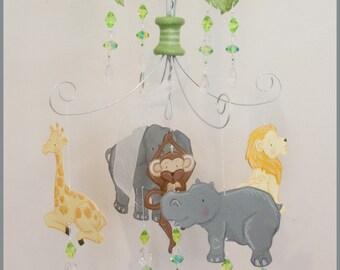 STUDIO SALE Petite Jungle Baby Mobile Nursery Mobile Nursery Decor