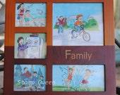 Family fun - home decor, table top frame