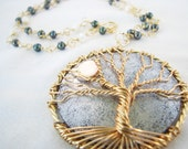 Moontree Necklace and Earring Set