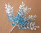 Beaded Flowers - Turquoise Blue - Altered Couture - Millinery - Wedding - Embellishment