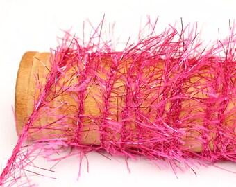 Metallic Twine Hot Pink - 3 yards - sparkle tinsel glittler glitz glitter ribbon yarn