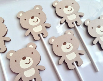 Teddy Bear Toppers (Set of 12)