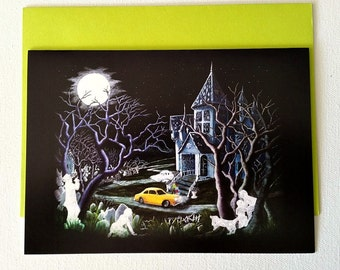 """Halloween Frame-able greeting card """"Haunted Inheritance"""""""