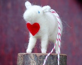 All You Need is Love - Valentine Lamb Ornament in Red