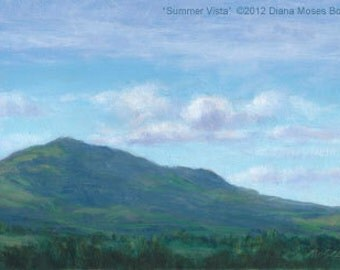 Original oil painting-- SUMMER VISTA -- unframed 5x7 inch plein air study, by Diana Moses Botkin