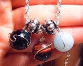 Three Gemstone Materia Necklace
