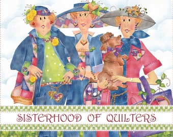 "10"" x 12"" Fabric Art Panel - Sisterhood of Quilters Logo"