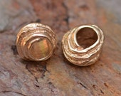 One Rustic Bronze Winding Roads Big Hole Bead