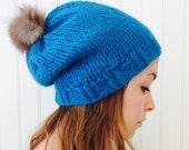 My furry pompom hat