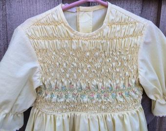 Smocked Dress Girls 5/6