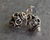 SALE!!!  30% OFF!!!  Sterling Silver Lantern Earrings