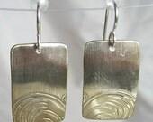 Floral Earrings - Silver Plate - Art Deco - Repurpose Beauty