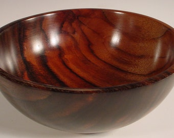 Macassar Ebony Wood Bowl Wooden Bowl number 5754