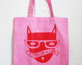 Pink Cool Cat Tote