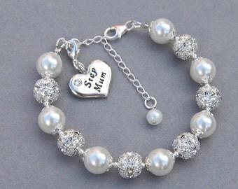 Step Mum Charm Bracelet, Step Mum Gift, Step Mum Jewelry