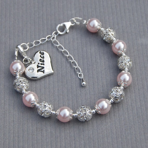Unique Wedding Gifts For Niece : Niece Gift, Niece Charm Bracelet, Niece Jewelry, Pick Your Own Color