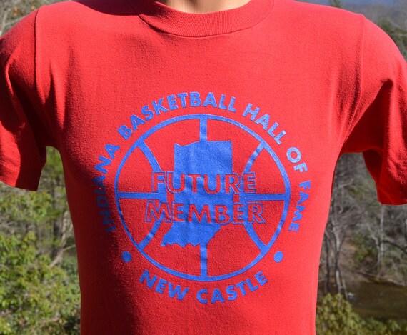 Vintage 80s tee shirt indiana basketball hall of fame hoosiers for Indiana basketball t shirt