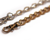 Chain handle for your clutch bag, choice of finish and length