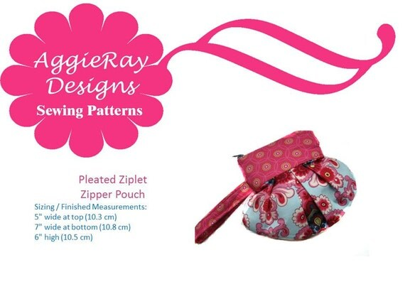 Sale 50% off-INSTANT DOWNLOAD pdf Wristlet Tutorial Sewing Pattern: The Pleated Ziplet Create and Sell