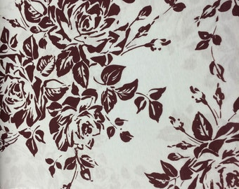 Floral Jersey Printed Knit - 1 Yard - Cotton Fabric / Fabric by Yard / New Fabric / Sewing Supplies / Knit by Yard / Knit Fabric