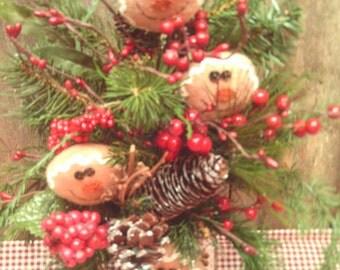 Gingerbread Arrangement / Christmas Arrangement / Primitive Grater Christmas Arrangement