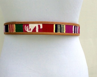 Vintage Embroidered Belt