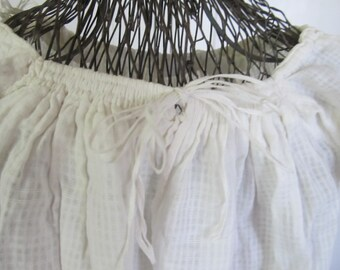 Antique Victorian Home Spun, Handwoven White Baby Christening Gown,Handstitched, For Baby Dress, For Study, For Display, Ships Worldwide