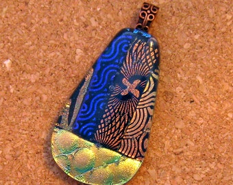 Dichroic Pendant - Dichroic Necklace - Fused Glass Pendant - Fused Glass Jewelry - Dichroic Jewelry