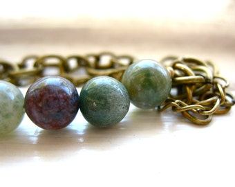 Ocean Jasper Bracelet, Jasper Bracelet, Handmade Artisan Bracelet, Ocean Jasper Jewelry, Stone Bracelet, Gemstone Jewelry