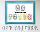 Custom Doodle Portraits - SMALL