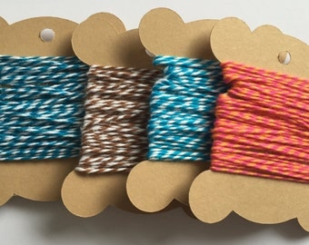 5mtrs Bakers Twine - Choice of Colors - Packaging