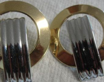 Goldtone and Silvertone Pierced Earrings
