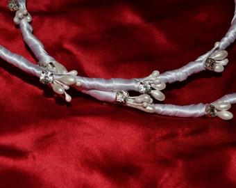 Greek Orthodox Crowns, Pearl Stefana Crowns, Rhinestone Stefana, White Stefana Crowns, Orthodox Wedding Crowns, Custom Embellishment