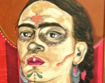 Frida with sun of the dead print