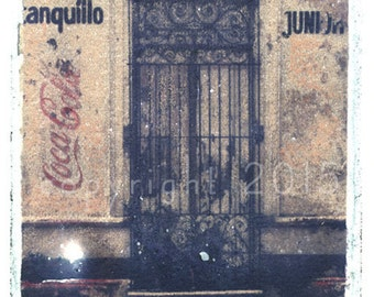 Polaroid transfer - Mexico Door #1