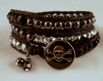 Jolly Roger wrap bracelet