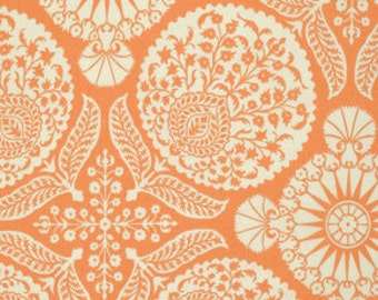 Joel Dewberry Flora fabric by Fabric Shoppe Modern Fabrics-Bazaar in Carrot -1 yard or fabric by the yard