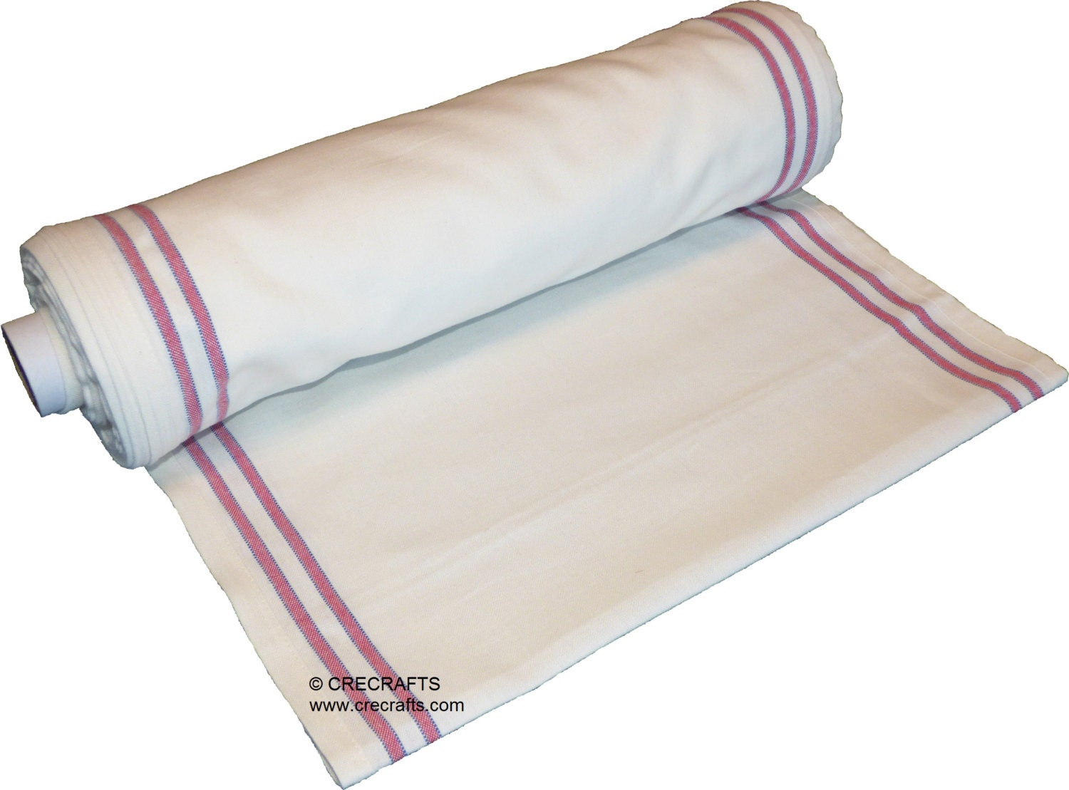 16 Inch Toweling Red Border By The Yard Moda Flour Sack Make