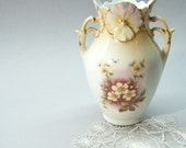 Antique Vase, Flower Vase, 2 Handled Vase, Cottage Chic