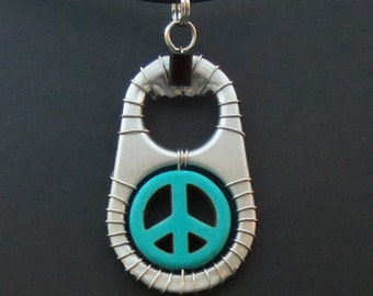 Ann-Made Pop Top Pendant - Peace
