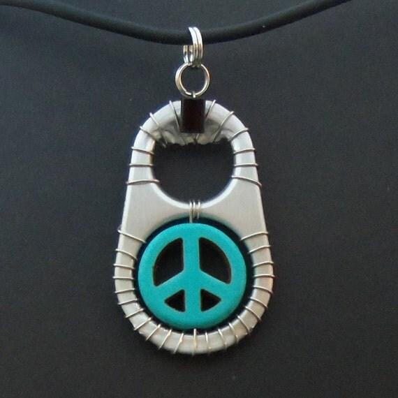 Ann-Made Pop Top Pendant - Peace