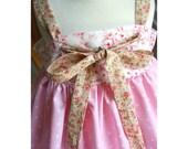 How to make a knot dress sewing pattern sizes newborn through 12 girls PDF