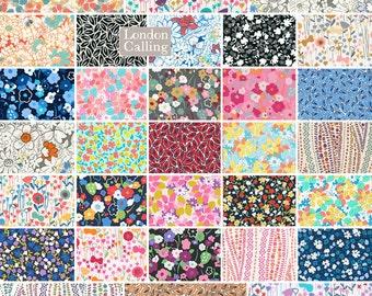 "SQ34 Valori Wells IN THE BLOOM Precut 5"" Charm Pack Fabric Quilting Cotton Squares Robert Kaufman chs-317-42"