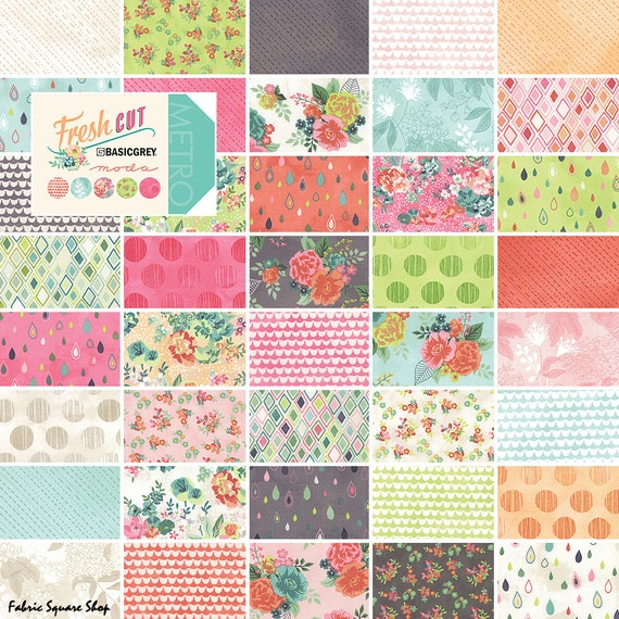 Layer Cake Quilt Missouri Star : Moda FRESH CUT Layer Cake 10 Precut Fabric Quilting
