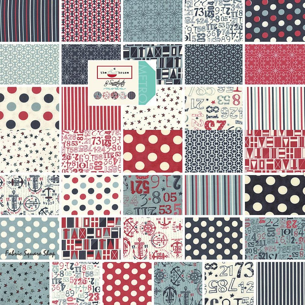 Moda The Boat House Fat Quarter Bundle 30 Precut Cotton Fabric