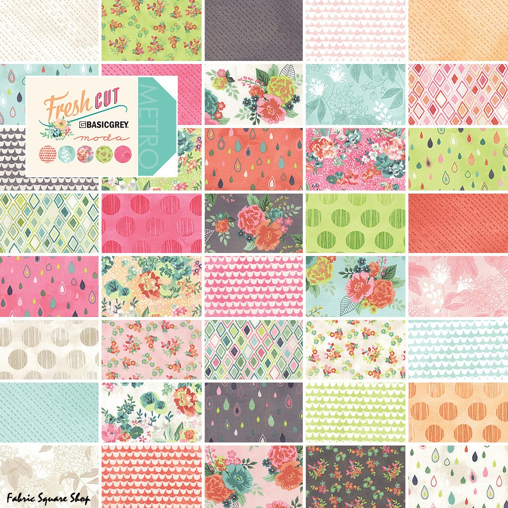 Layer Cake Quilt Top : Moda FRESH CUT Layer Cake 10 Precut Fabric Quilting